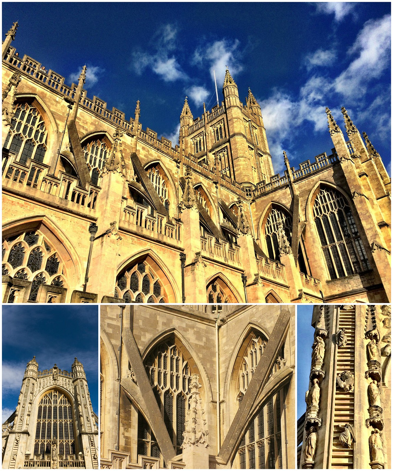 Bath Abbey. Credit: Joanna Penn, flickr; Lee, flickr