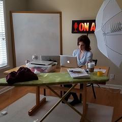 Rachel in the studio. . .Amplify #Podcast day