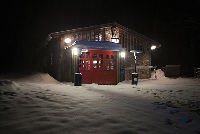 Casa de madera en la nieve Neutrogena experience