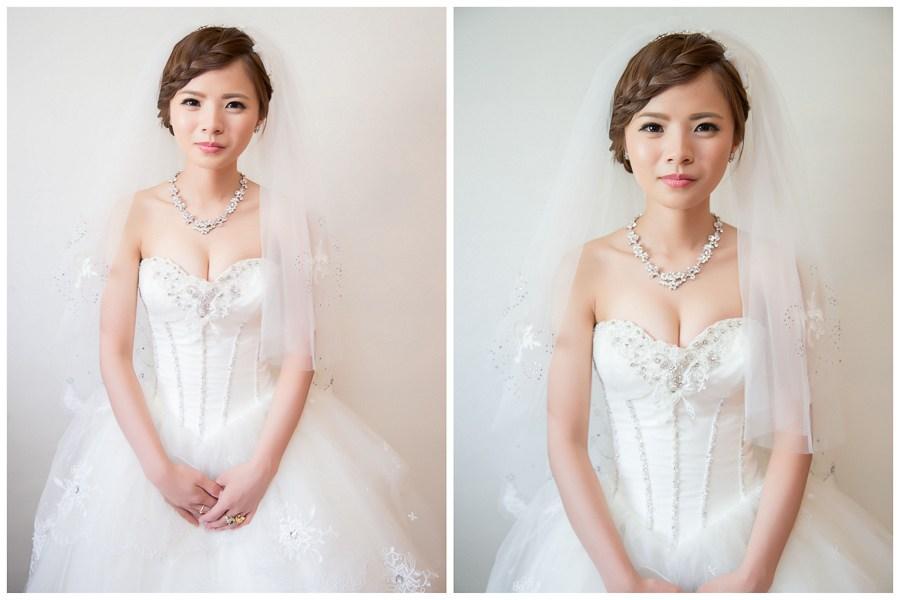 新秘Yuki│新秘推薦│白紗│盤髮│瀏海編髮│新娘頭紗