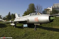 116 - 2116 - Polish Air Force - Sukhoi SU-7 UM - Polish Aviation Musuem - Krakow, Poland - 151010 - Steven Gray - IMG_0344