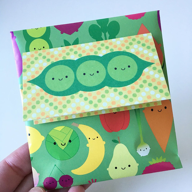 Wrapping up a cutie fruity Valentine gift for a customer. Hope they like it