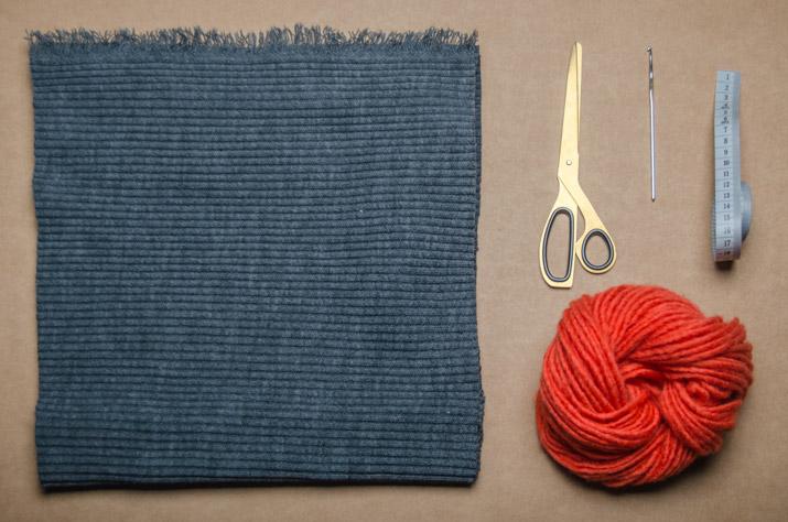 diy-bufanda-flecos-materiales