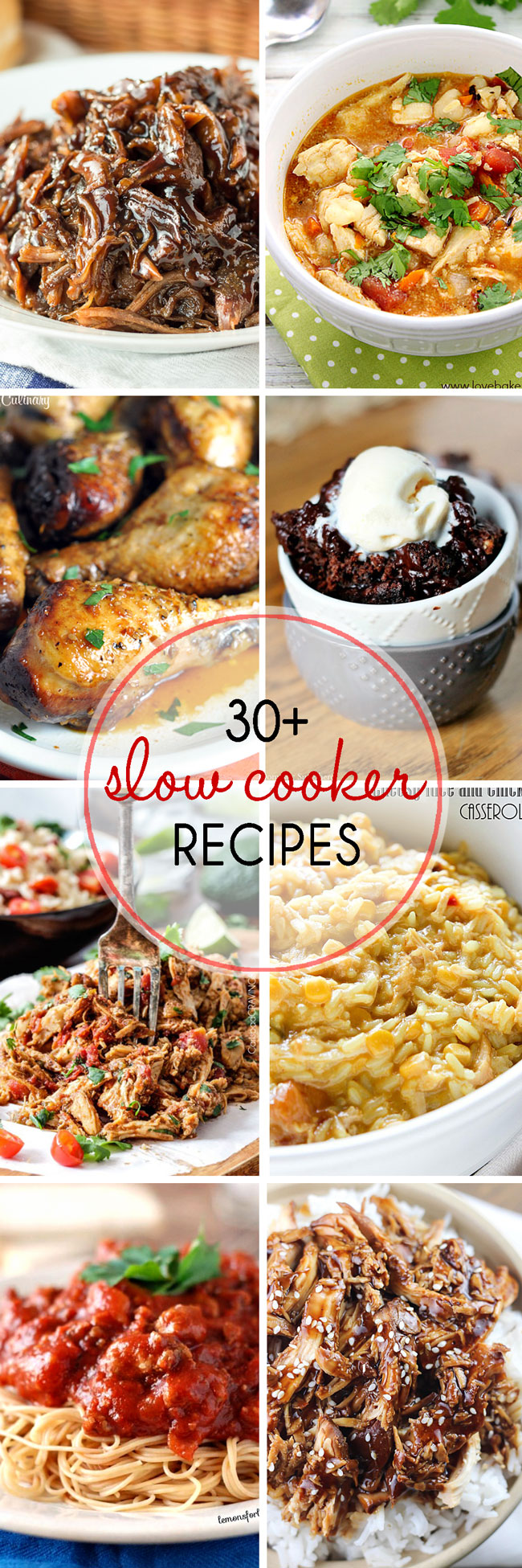 thirty slow cooker recipe you will want to try from the top food bloggers