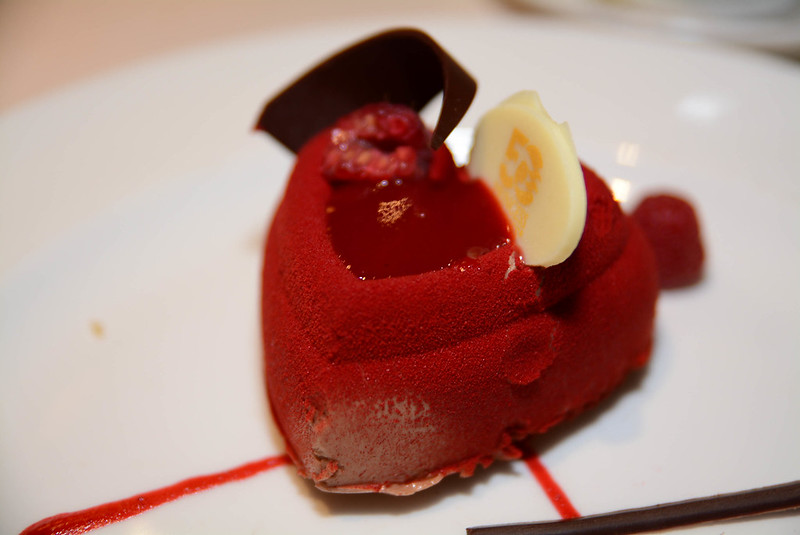 Chocolate Raspberry Mousse with Vanilla Cream