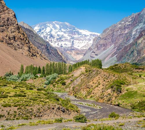 chile snow nature river andes mountainscape cajondelmaipo