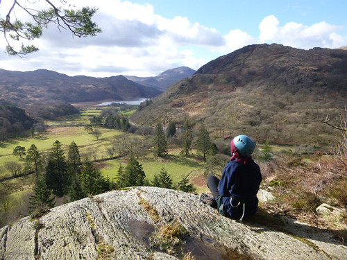 Contemplation top of abseil cliff for John Muir Award Snowdonia