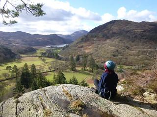 Contemplation top of abseil cliff for John Muir Award Snowdonia