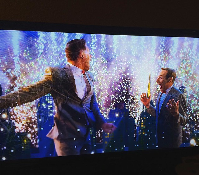 """Watching """"Peewee's Big Holiday"""", 2016. It's weird and is giving me John Waters vibes."""