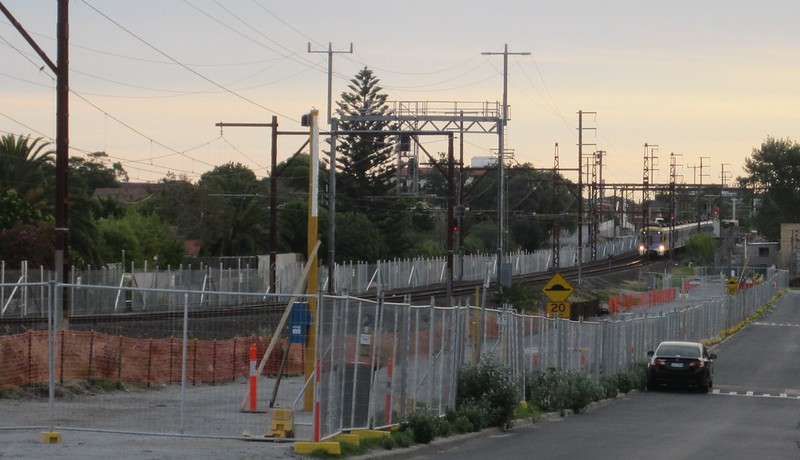 Nicholson St, near Mckinnon station, during level crossing removal works