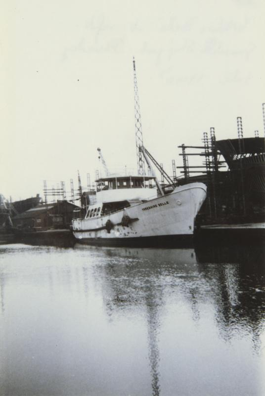 Yorkshire Belle in for refit at Grovehill Shipyard late 1940s (archive ref DDX1544-1-11 (66)