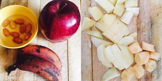 Apple Banana Milkshake Recipe for Babies, Toddlers and Kids - step 1