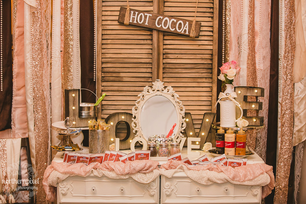 Hot Cocoa Bar - Hart Community Centre Wedding Reception