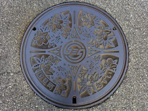 Kunimi Oita, manhole cover (大分県国見町のマンホール)