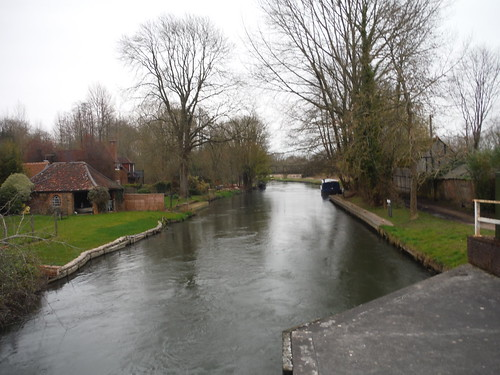 The River Kennet Navigation, from bridge by The Rowbarge Inn