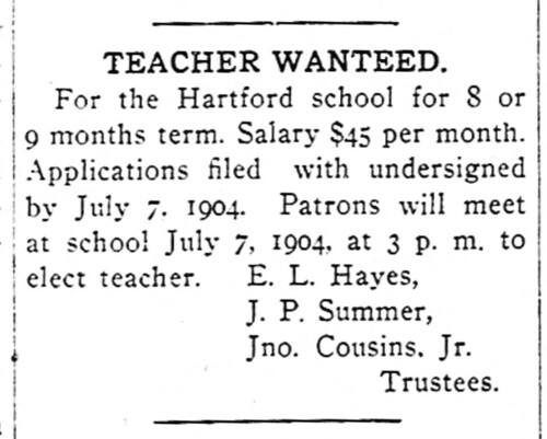 Hartford School Teacher Ad