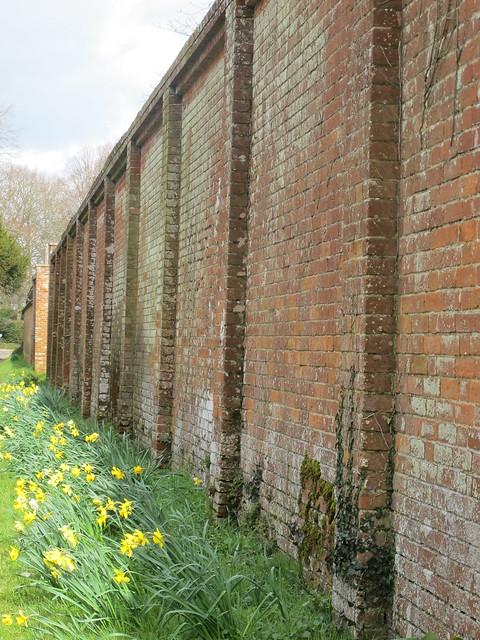 Outside Wall of Walled Rose Garden, Mottisfont Abbey Gardens