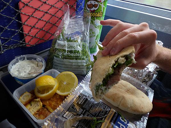 sandwiches pita-roquette-tzatziki