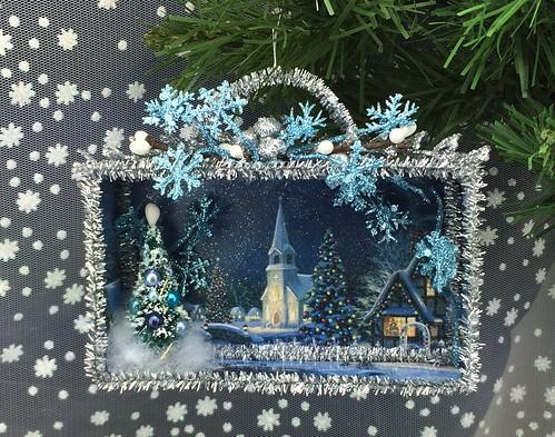 Winter Evening Christmas shadow box