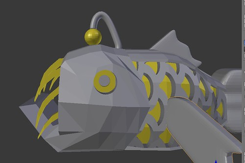 3D Printing - Anglerfish - Laying Out Both Colors in Blender