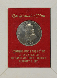 Franklin Mint stock exchange listing medal