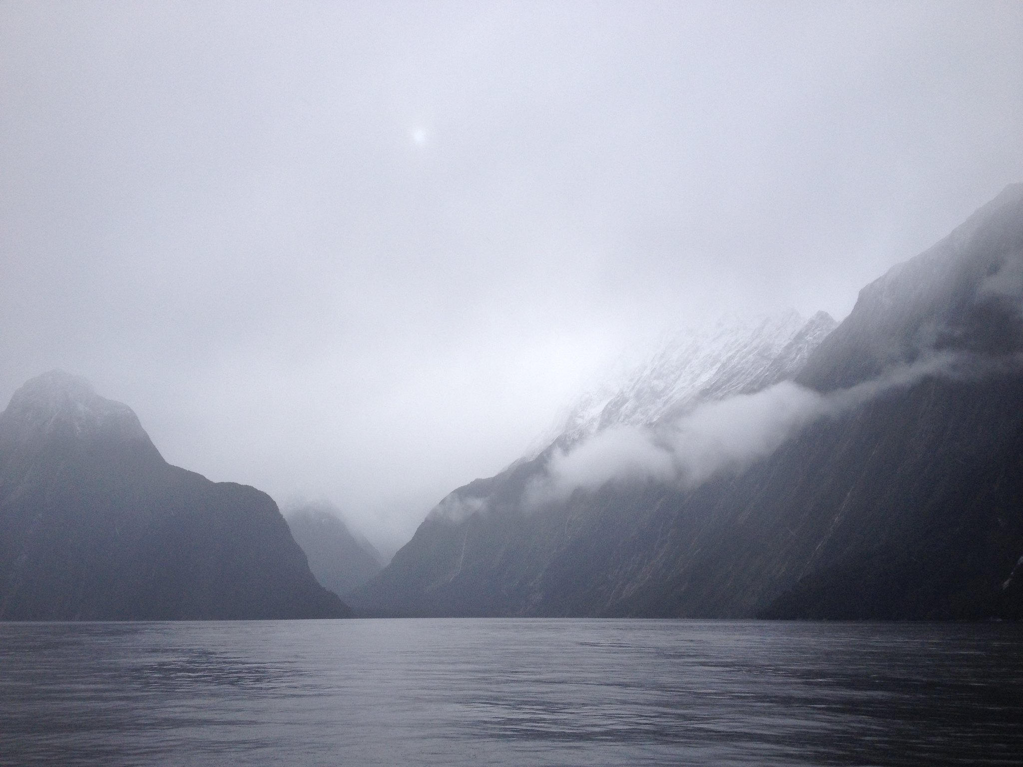 Milford Sound, winter sun
