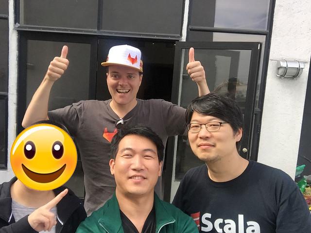 GitLab의 CEO Sytse와 기념 사진