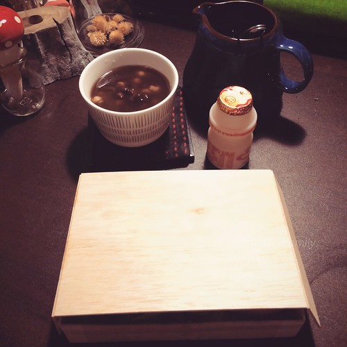 Wooden Box, red beans sweet soup