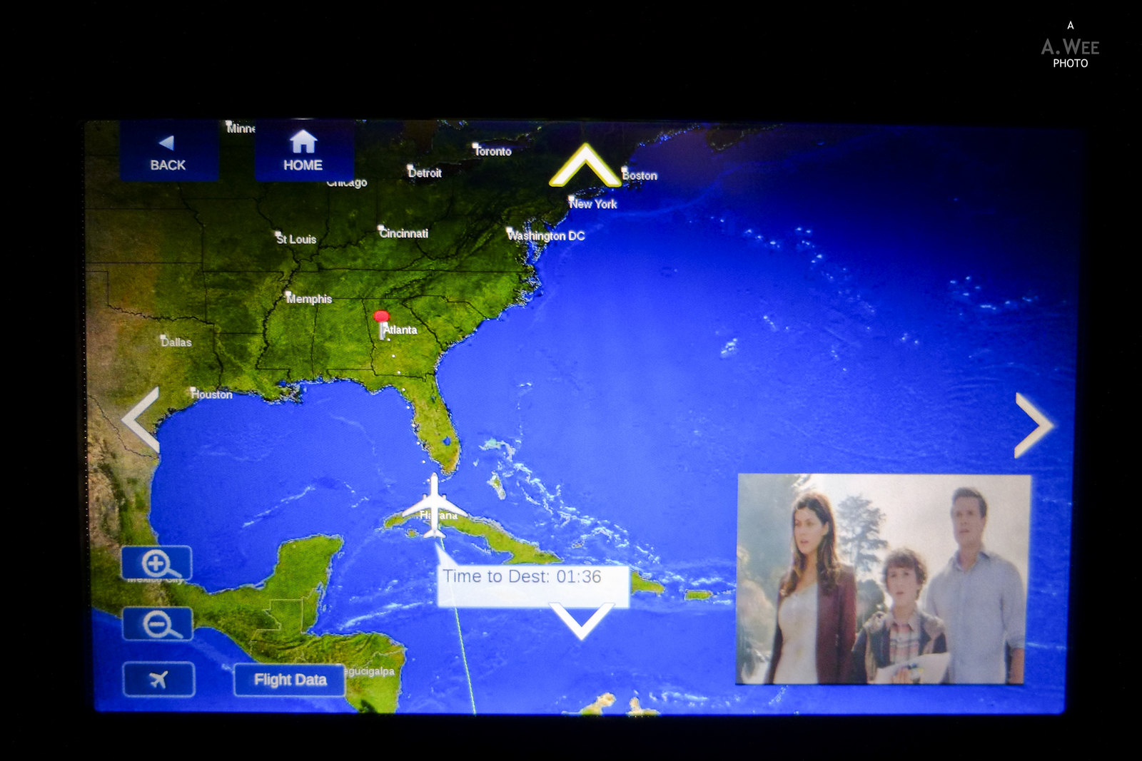 Inflight map