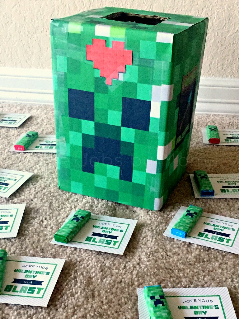 minecraft valentines with box