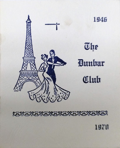 1970 Dunbar Club ball program