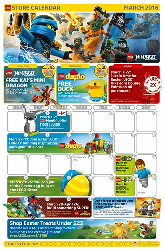 Lego march 2016 store calendar promos events the brick fan lego march 2016 store calendar negle Gallery