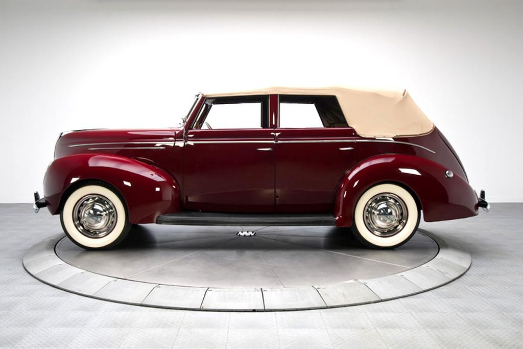 39017_C Ford Deluxe 221CI Flathead V8 3SPD Convertible Sedan_Burgundy