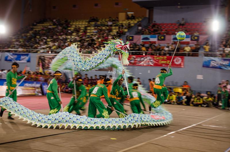 Unicorn, dragon and lion dance 2016
