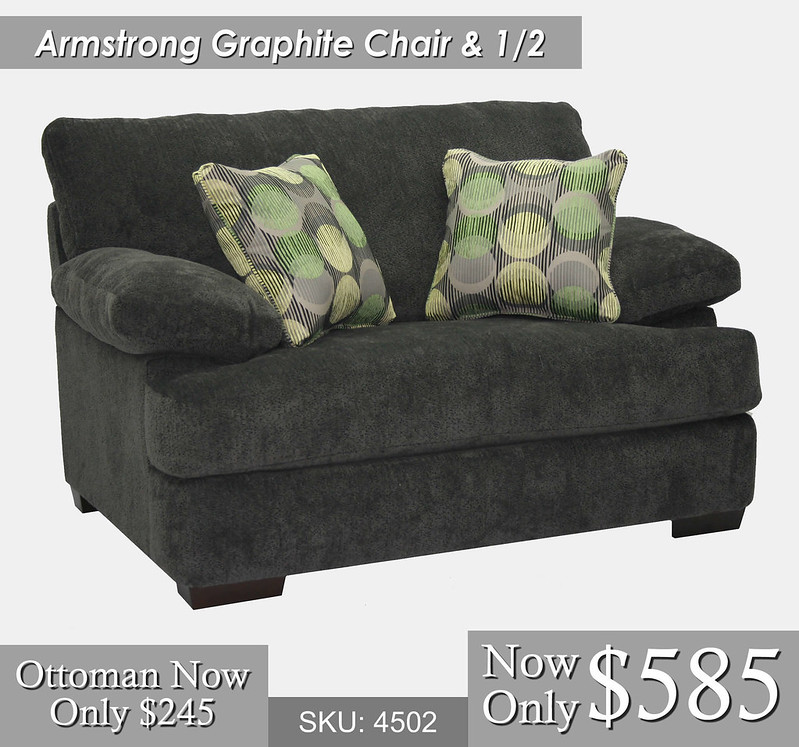 Armstrong Graphite Chair and half
