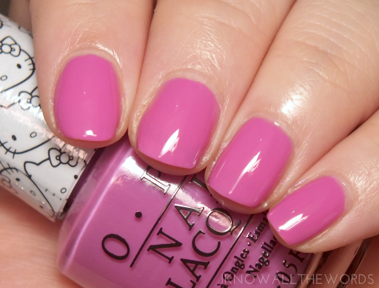 Hello Kitty collection by OPI Super Cute in Pink