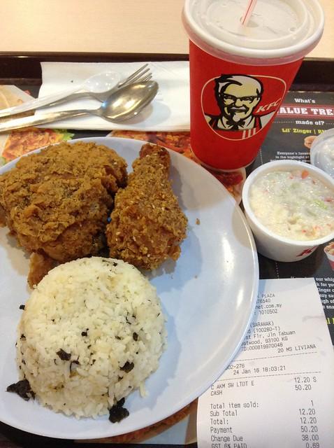 KFC酱油炸鸡海苔饭套餐12.2马币
