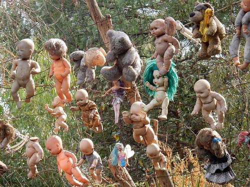 Xochimilco - reproductie van doll-monument - 1