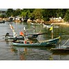 The fishermen have called it a day at the Bangrak fishing village between Wat Phra Yai and the Seatran ferry pier.