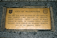 Photo of Charles I bronze plaque