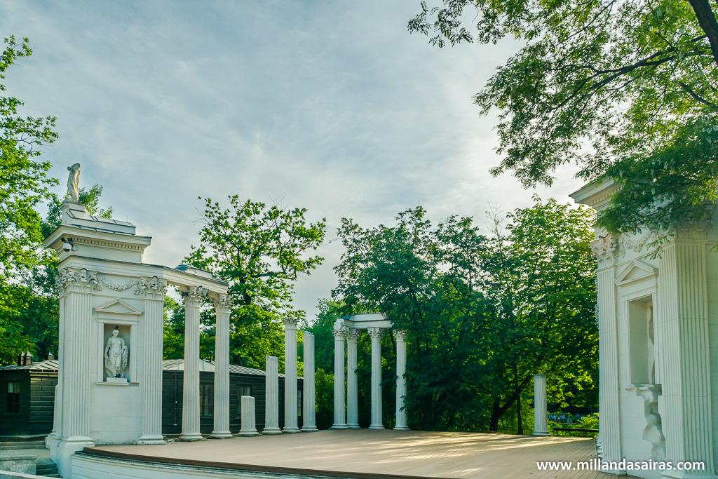 Zona del anfiteatro del Parque Łazienki