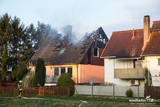Dachstuhlbrand Wallerstädten 13.03.16
