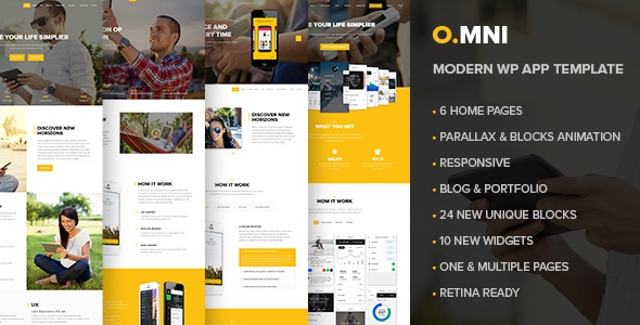 Omni v1.5.4 – Stylish Powerful One Page and Multipage App and Software WP Theme