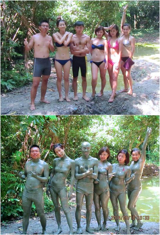 迪加島火山泥浴前後照 Sabah Pulau Tiga-Survivor Island