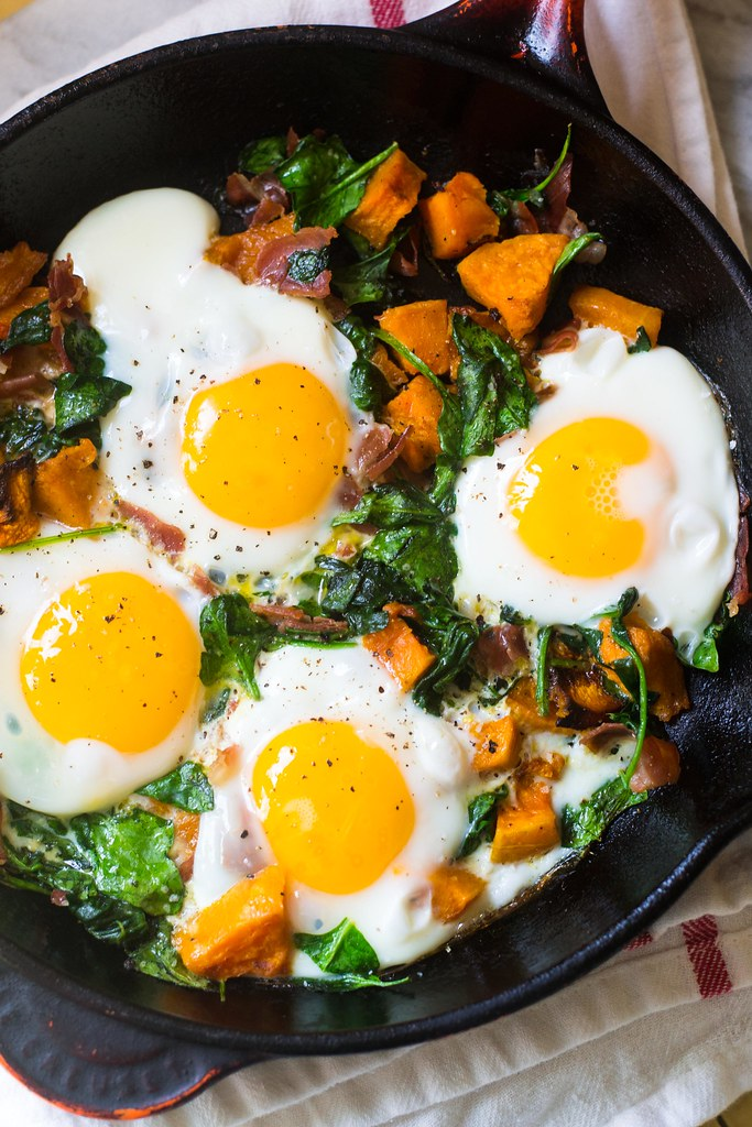 Butternut Squash Prosciutto Breakfast Hash via LittleFerraroKitchen.com