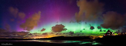 Cosmic Bay - Aurora Borealis, Beadnell Bay, Northumberland