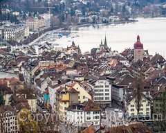 Old Town of Lucerne, Central Switzerland