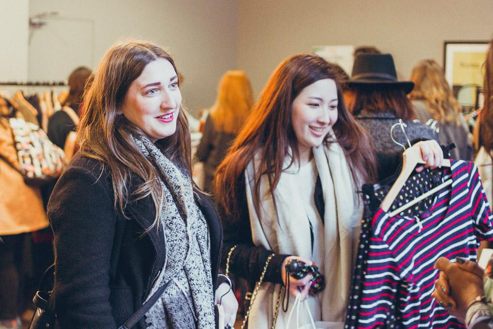 #TheBloggersMarket shoppers smiling