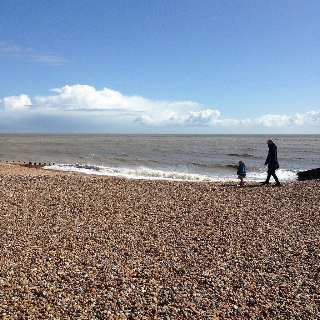 little ones on eastbourne beach