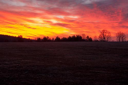 morning red orange clock colors yellow clouds sunrise daylight nikon nh change savings webster boscawen d90